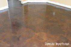 Paper bag flooring. This looks so awesome! If I only had the time and patience to do it...