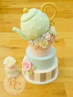 A place for people who love cake decorating. Birthday Cake For Father, 2 Birthday Cake, Tea Party Birthday, Birthday Cake Decorating, Birthday Nails, Pretty Cakes, Beautiful Cakes, Amazing Cakes, Fondant Cakes