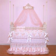 Designer Baby Bedding & Designer Crib Bedding for Girls at Luxury Baby Nursery Baby Girl Crib Sets, Girl Crib Bedding Sets, Girl Cribs, Baby Cribs, Nurseries Baby, Baby Boys, Modern Nurseries, Pink Bedding, Luxury Bedding