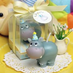 Hippo Shaped Birthday Candle