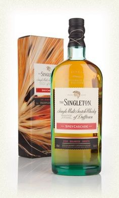 The Singleton Spey Cascade €37.77 The Spey Cascade single malt Scotch whisky from the Singleton of Dufftown is made with a balanced mix of whiskies aged in both bourbon and Sherry casks. The result is warming with baked orchard fruits, demerara sugar and golden barley. Great for early evening dramming, this one - laid back with good flavour behind it. The folks at the Singleton of Dufftown also say Spey Cascade pairs well with chocolate truffles, too. If you're feeling decadent, go for it.