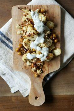 Spicy Roast Cauliflower and Chickpeas