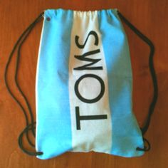 Toms flag backpack. What else are you gonna do with it:) genius idea I think