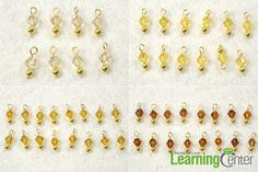 Make four kinds of bead dangles for crystal cluster earrings