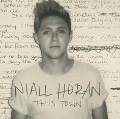 "Niall just released a video on vevo of his new song ""This Town"""