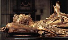 The bronze tomb of Mary of Burgundy, c 1491. Jan Borman made the wooden model. In the Church of Our Lady in Bruges.