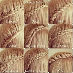 Lace braids are just taking hair from the top, I like the variety