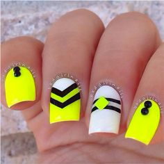 Image via Neon nails and black studs Image via Bright Neon Green Nails Image via Cute summer bright nail designs Image via bright nails Image via Bright summer man Neon Nail Art, Neon Nail Polish, Neon Nails, Diy Nails, Love Nails, Bright Nails Neon, Nail Polishes, Manicure Ideas, Glitter Nails