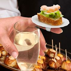FINGER FOOD Party Plates - a fun and quirky way to serve finger foods and hors d'oeuvres!
