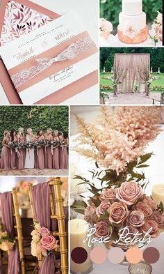 Dusty rose wedding inspiration, Mauve wedding color trends 2016 - Dusty Rose wedding invitation, lace wedding invite, Mauve invitation {Camellia design - Sku: CamPin01}