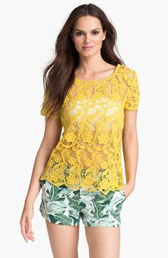 Joie 'Devine' Lace Tee available at #Nordstrom