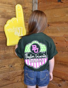 This one is for those little future Baylor Bear girls!...Every girl loves the pop of color!