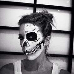 Halloween makeup created by Charlotte George. Day of the Dead #halloween