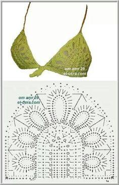 Captivating Crochet a Bodycon Dress Top Ideas. Dazzling Crochet a Bodycon Dress Top Ideas. Crochet Lingerie, Bikinis Crochet, Crochet Bra, Crochet Bikini Pattern, Crochet Bikini Top, Crochet Diagram, Crochet Woman, Crochet Chart, Crochet Clothes