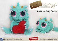 Drake the Baby Dragon - Crochet Pattern van Eelz! - Eelzuhtjuh's Crochet & More op DaWanda.com