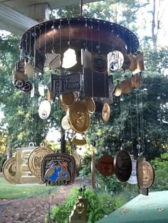 Race Medal wind chimes! I like the idea of Christmas ornaments too.