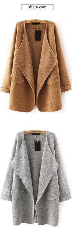 Khaki Loose Sweater Coat. Warm & cozy. FREE STANDARD SHIPPING