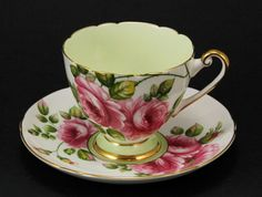 "SHELLEY RIPON ""RAMBLER ROSE"" CUP AND SAUCER #13747"