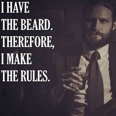 The beard holds the power. Claim your power by growing a beard and using…