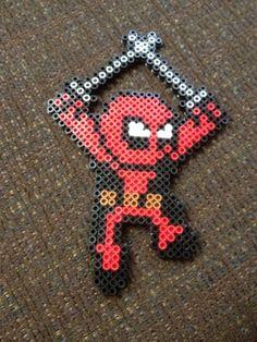 Deadpool perler bead magnet