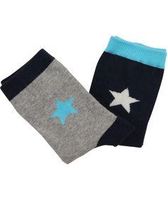 Duo de chausettes étoiles noir et grise par Molo #emilea