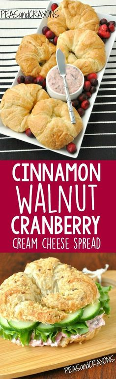 Cinnamon Walnut Cranberry Cream Cheese Spread :: the most delicious thing to happen to holiday leftovers!