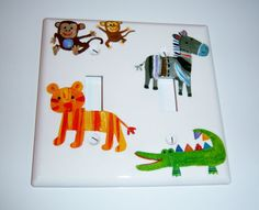 Wild Animals Double Light Switch Cover by MoanasUniqueDesigns