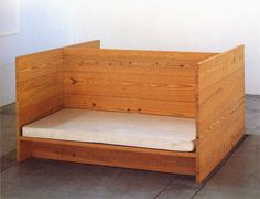 double bed, Donald Judd's furnitures