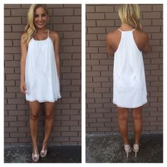 White Drape Dress
