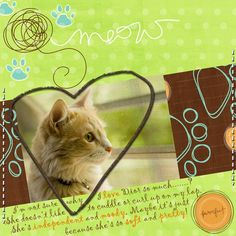 digital Scrapbook ideas   Yes, you can even make digital scrapbook pages for pets! photo by ...