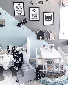 "Inspiration from Instagram - mint and grey, black and white kids room decor, Scandinavian style, boys room ideas- Interior || Kids || Baby (@baby_and_kidsroom_inspo) on Instagram: ""Picture by: @mamma.ulrikke"
