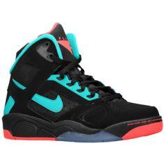 Nike Air Flight Lite High - Men's - Black/Hyper Punch/Hyper Jade