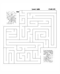 Bible Lesson Activity Maze - Adam and Eve