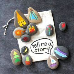 Challenge your kid to craft an epic story with a set of painted stones.