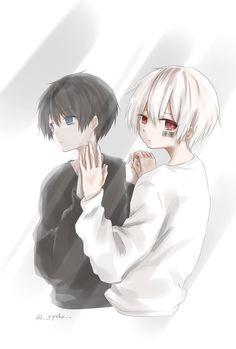 Soraru x Mafumafu Cute Anime Guys, Anime Love, Handsome Anime Guys, Manga Anime, Manga Boy, Neko Kawaii, Familia Anime, Ange Demon, Anime Child