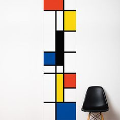 Pop Mondrian  Wallpaper  Color Print by ADzif on Etsy
