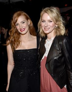 Jessica Chastain (L) and Naomi Watts attend Audi celebrates Golden Globes Week 2015 at Cecconi's Restaurant on January 8, 2015 in Los Angeles, California.