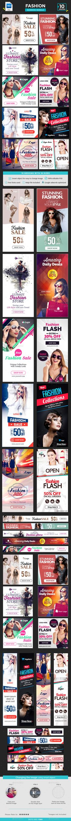 Fashion Banners Bundle - 10 Sets - 160 Banners Template PSD. Download here: http://graphicriver.net/item/fashion-banners-bundle-10-sets-160-banners/16048167?ref=ksioks