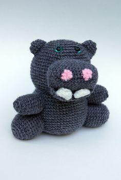 Sanford the Hippo Crochet Amigurumi Stuffed Animal by K8CsCritters, $33.50