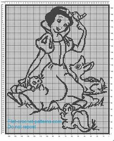 Snow-white crochet filet crib blanket pattern - free filet crochet patterns download