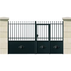 portail avec portillon integr gates pinterest portail avec portillon int gr portillon. Black Bedroom Furniture Sets. Home Design Ideas