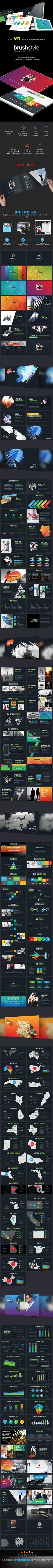 Brush Style Business Plan PowerPoint Presentation Template