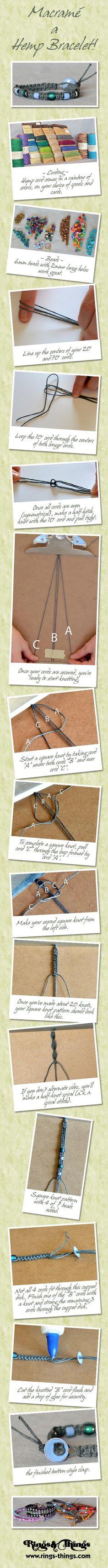 Macrame Bracelet Tutorial from Rings & things