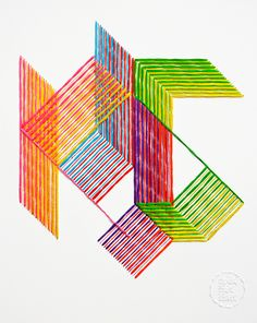 Modern Monogram - Evelin Kasikov – CMYK embroidery and Typographic Design – London