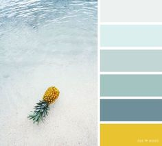 Green ocean and yellow pineapple colour scheme,teal and yellow color scheme ,color scheme ,color palette - Looking for color inspiration? At fab mood you will find 1000s of beautiful color palette, color palette inspired by nature,landscape ,food ,season