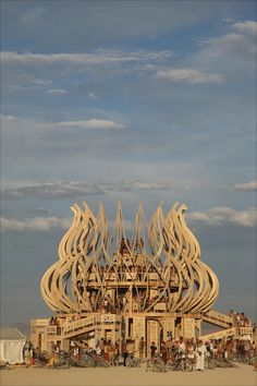 Burning Man 2009 temple by David Umlas and Marrilee Ratcliffe