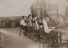 Cigar Factory Boys, Tampa, Florida  Artist: Lewis Wickes Hine  Artist Bio: American, 1874 - 1940  Creation Date: 1909  Process: gelatin silver print  Credit Line: Gift of Daniel D. Bumstead  Accession Number: 1985.037.005