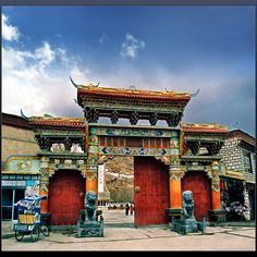 Tibet's gate  I probably will never make it here but it will be cool if I could