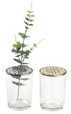 Váza JANNIK Ø10xV15cm s víčkem různé | JYSK