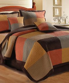 Trafalgar Quilt Set by Greenland Home Fashions #zulily #zulilyfinds